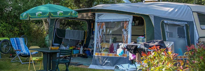 Emplacements pour les tentes dans le Morbihan